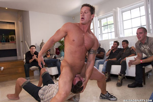 Really wild gay porn sausage party